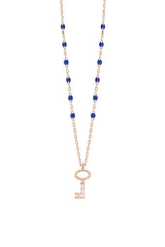 Gigi Clozeau / Collier perles de résine mini et clé diamant