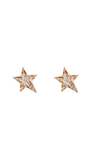Gigi Clozeau / Puces étoile en or rose et diamants