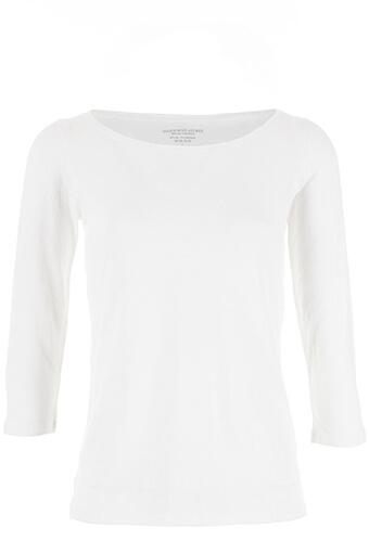 Majestic Filatures / Tee shirt lin manches 3/4 col bateau