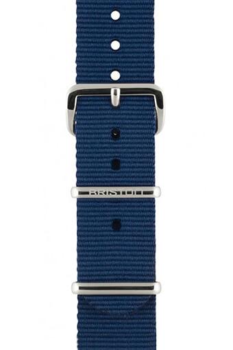 Briston / Bracelet type NATO bleu marine, boucle or rose 230mm - Clubmaster Chic