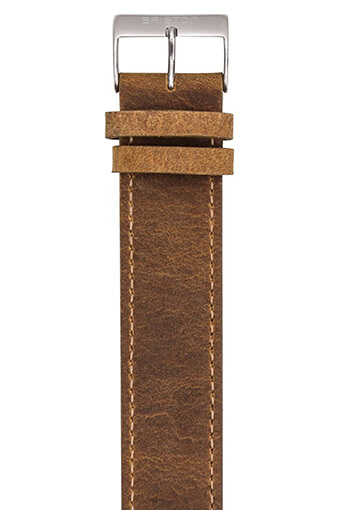 Briston / Bracelet Vintage interchangeable en cuir - marron
