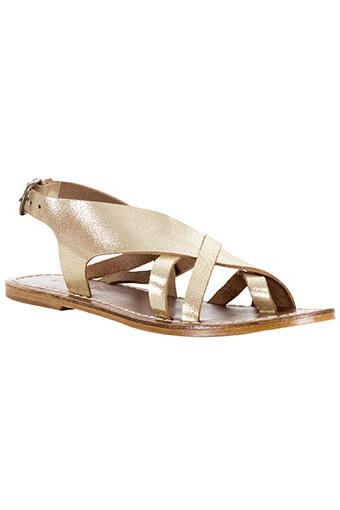 Soeur / Sandale en cuir lamé