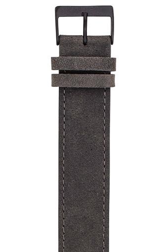 Briston / Bracelet Nato cuir vintage boucle acier noir