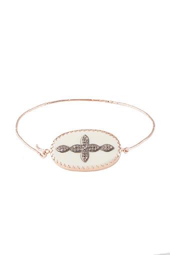 Pascale Monvoisin / Bracelet Garance N°2  blanc et diamants