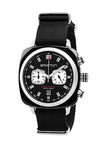 Briston / Clubmaster Sport Acétate - Chronographe noir cadran noir