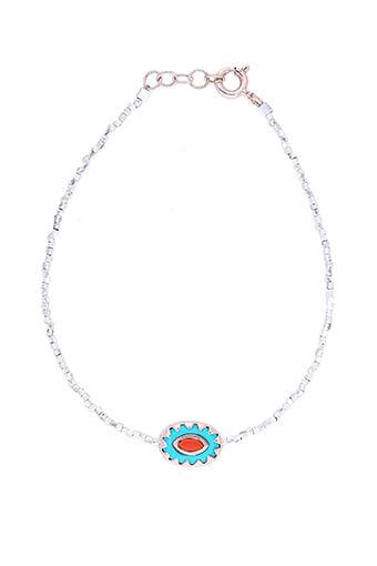 Pascale Monvoisin / Bracelet Montauk perles argent, Turquoise et corail