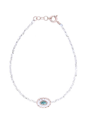Pascale Monvoisin / Bracelet Montauk perles argent, bakélite et turquoise