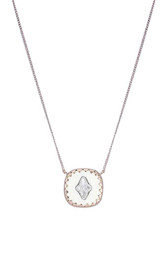 Pascale Monvoisin / Collier Pierrot n° 2 Blanc et diamants