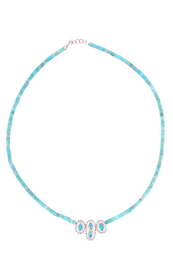 Pascale Monvoisin / Collier Montauk n°2 turquoise bakélite et turquoise