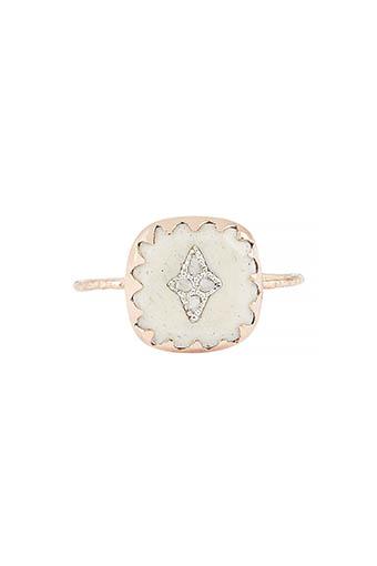 Pascale Monvoisin / Bague Pierrot blanc et diamants
