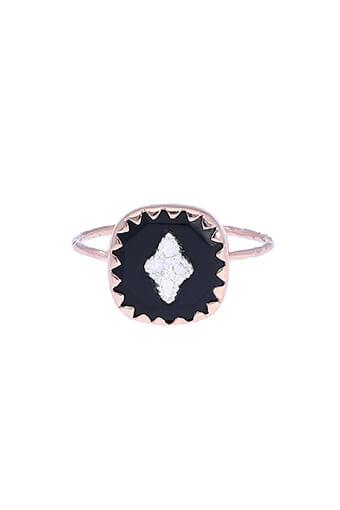 Pascale Monvoisin / Bague Pierrot noir et diamants