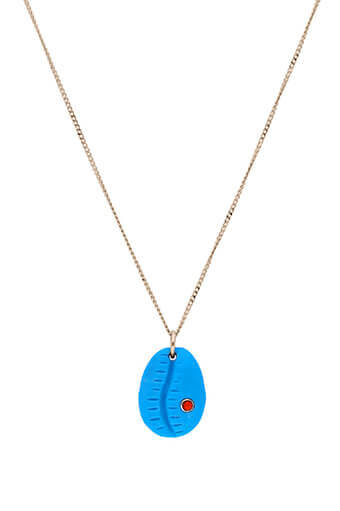 Pascale Monvoisin / Collier Cauri turquoise serti corail n°2