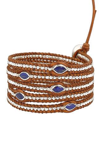 Chan Luu / Bracelet  Argent et Lapis  Lazuli