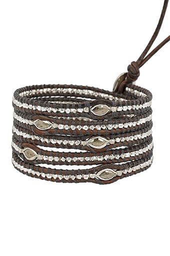 Chan Luu / Bracelet Argent et Pyrites