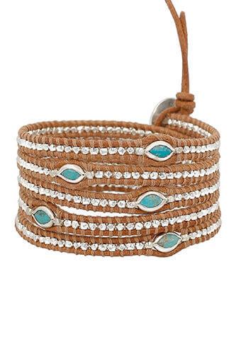 Chan Luu / Bracelet Argent et Turquoise