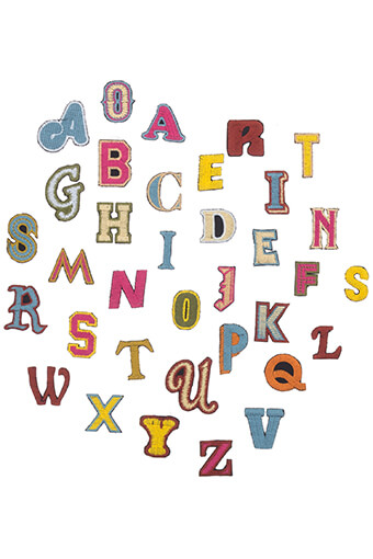 Mother / Ecusson Alphabet multicolore