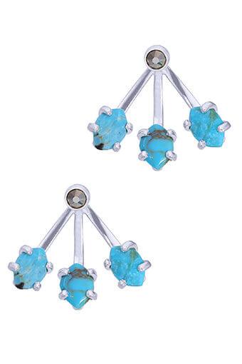 Chan Luu / Boucles d'oreilles Turquoise