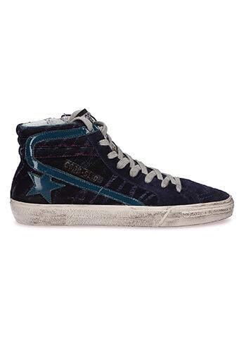 Golden Goose / Sneakers Slide, zèbre violet et étoile essence