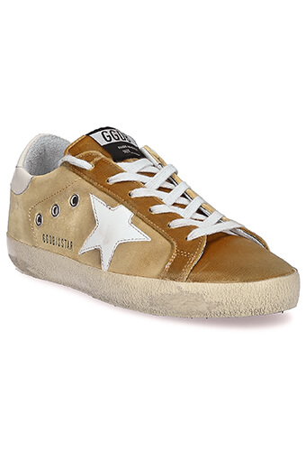 Golden Goose / Sneakers Superstar, velours doré