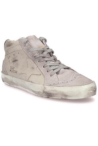 Golden Goose / Sneakers Mid Star, cuir blanc