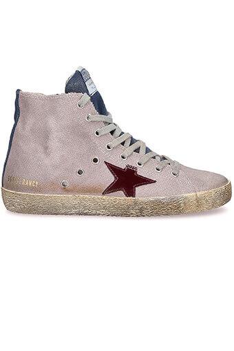 Golden Goose / Sneakers Francy, lilas indigo et étoile violette