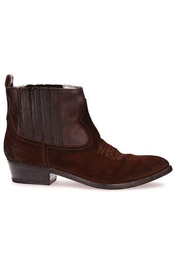 Golden Goose / Boots Arlene, daim et cuir marron