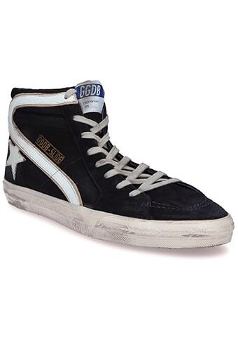 Golden Goose / Sneakers Slide, marine et étoile blanche