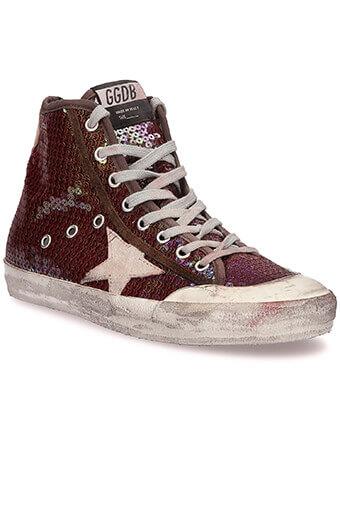 Golden Goose / Sneakers Francy, paillettes rouges