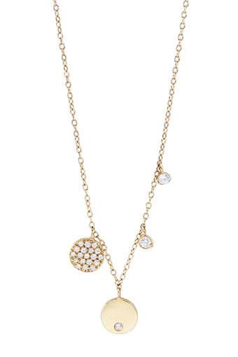 And... Paris / Collier buzios charms diamants