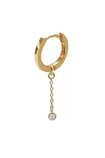 And... Paris / Mini créole charm chaîne et diamant