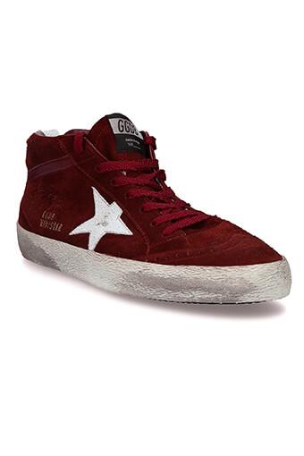 Golden Goose / Sneakers Mid Star en daim bordeaux