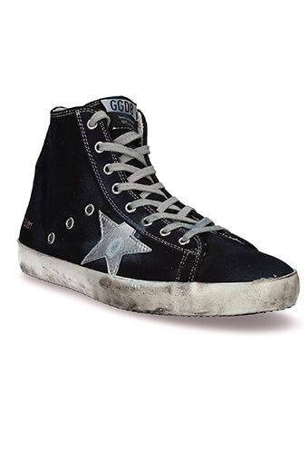 Golden Goose / Sneackers Francy toile bleu marine