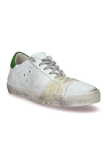 Golden Goose / Sneakers Superstar blanche patch vert