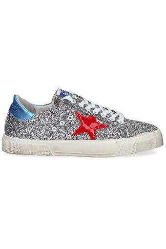 Golden Goose / Sneakers May grey glitter