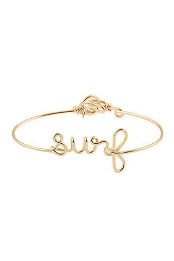 Atelier Paulin / BraceletSurf en fil de cuivre doré à l'or fin
