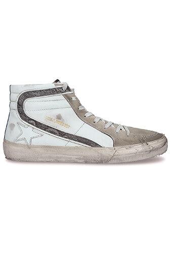 Golden Goose / Sneakers Slide, bande pailletée