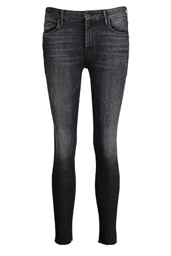 Mother / Jean Looker Ankle Fray Noir