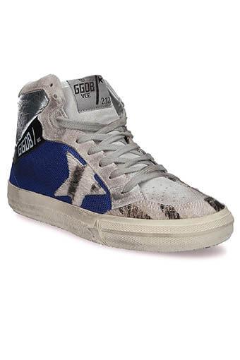 Golden Goose / Sneakers Pony Star bleu/zèbre