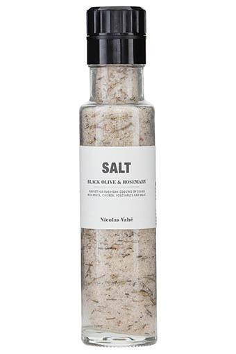 Nicolas Vahé / Moulin à sel , olives noires et romarin 320g