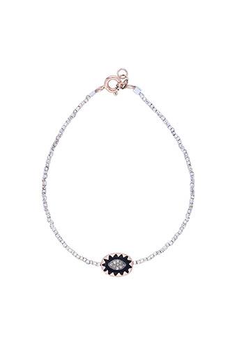 Pascale Monvoisin / Bracelet Montauk noir et diamants