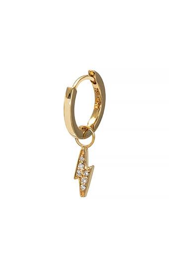 And... Paris / Mini créole charm éclair diamants solo