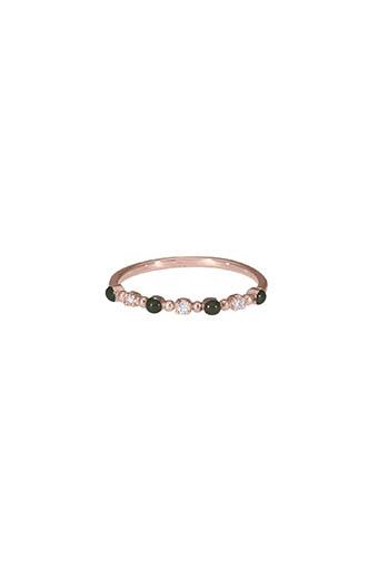 Gigi Clozeau / Bague or rose diamants et résine