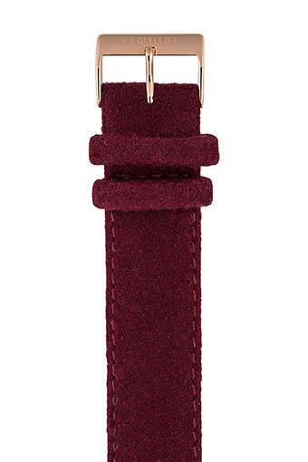 Briston / Bracelet interchangeable flanelle bordeaux/or rose