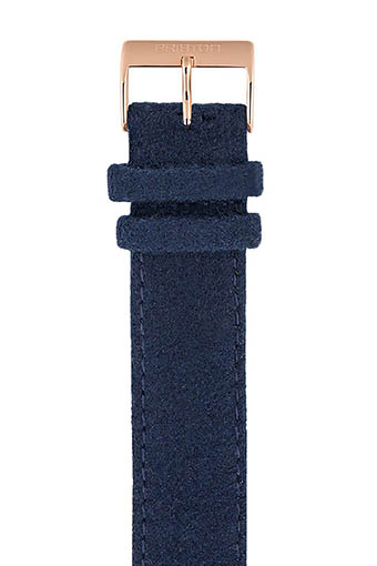 Briston / Bracelet interchangeable flanelle bleu navy/or rose