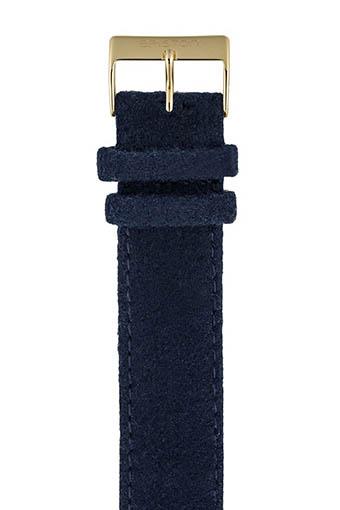 Briston / Bracelet interchangeable flanelle bleu navy / or jaune