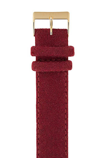 Briston / Bracelet interchangeable flanelle Bordeaux / or jaune