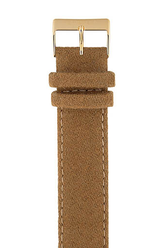 Briston / Bracelet interchangeable flanelle camel / or jaune