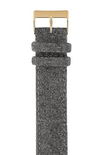 Briston / Bracelet interchangeable flanelle gris / or jaune