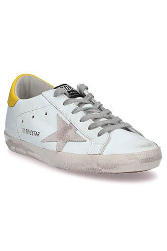 Golden Goose /  Sneakers Superstar, blanche et jaune