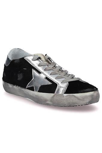Golden Goose / Sneakers Superstar, poils noir